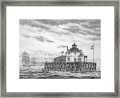 Historic Semiahmoo Lighthouse  Framed Print by James Williamson