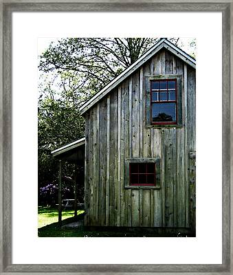 Historic Shed Framed Print by Mg Blackstock