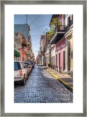 Historic Spanish Colonial Street  Framed Print by David Zanzinger