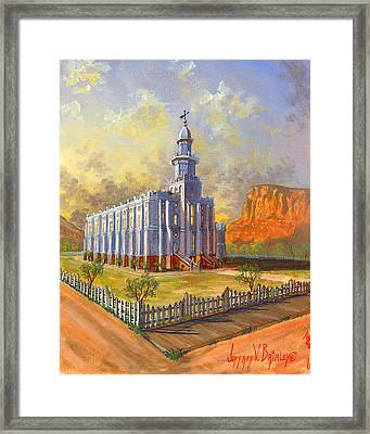 Historic St. George Temple Framed Print