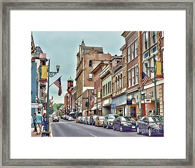 Framed Print featuring the photograph Historic Staunton Virginia - Art Of The Small Town  by Kerri Farley