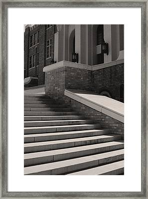 Historic Steps Little Rock Central High School Framed Print by Brian M Lumley
