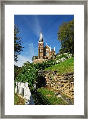 Historic Stone Church Harper's Ferry Framed Print by Mark VanDyke