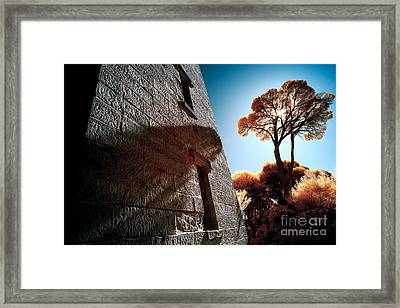 Historic Stone Framed Print by Russ Brown