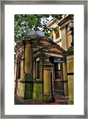 Historic Sydney Hospital - The Little Shop Framed Print by Kaye Menner