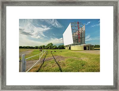 Historic Tulsa Admiral Twin Drive-in Framed Print