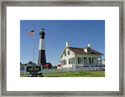 Historic Tybee Island Lighthouse II Framed Print by Suzanne Gaff