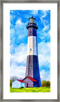 Historic Tybee Island Lighthouse Framed Print by Mark E Tisdale