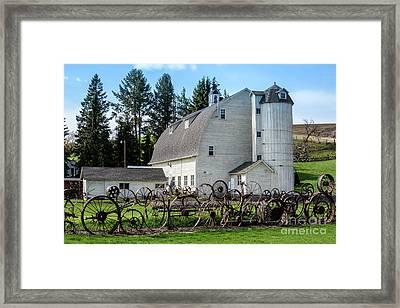 Historic Uniontown Washington Dairy Barn - 2 Framed Print