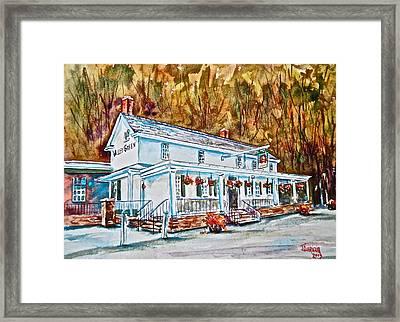 Historic Valley Green Inn Framed Print by Joyce A Guariglia