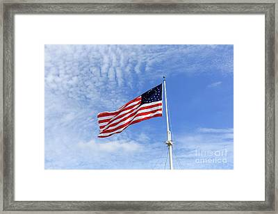Historic Version Of The Stars And Stripes Framed Print by Louise Heusinkveld