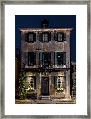Framed Print featuring the photograph Historic William Vanderhorst House, Charleston by Carl Amoth