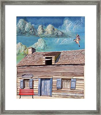 Historic Wooden School House  Framed Print by L Wright