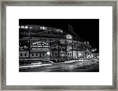 Historic Wrigley Field Framed Print by Andrew Soundarajan