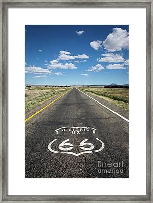Historica Us Route 66 Arizona Framed Print
