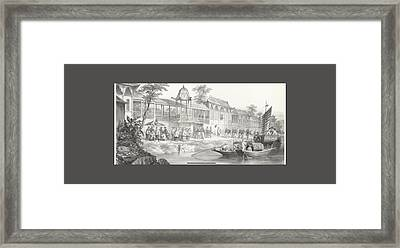 Historical And Anecdotal Shown Great Panorama Framed Print by MotionAge Designs