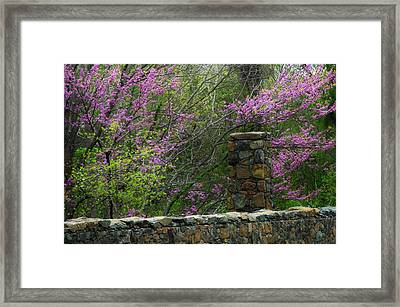 Historical Bridge In Aldie Virginia Framed Print by Joyce Kimble Smith
