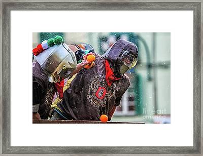 Historical Carnival Of Ivrea Framed Print by Roberto Chiartano
