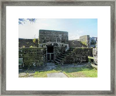 Historical Fort Wool Architecture Framed Print by Kathy Clark