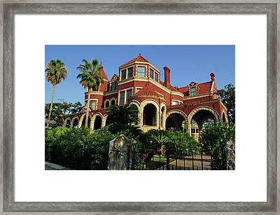 Framed Print featuring the photograph Historical Galveston Mansion by Tikvah's Hope