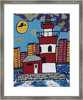 Historical Michigan Lighthouse Framed Print