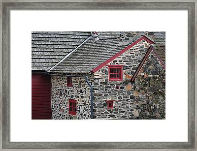 Historical Stones - Only If The Walls Could Talk. Framed Print by Craig A Schwartz