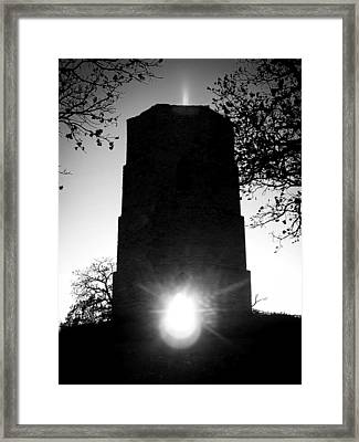 Framed Print featuring the photograph Historical Water Tower At Sunset by Viviana  Nadowski