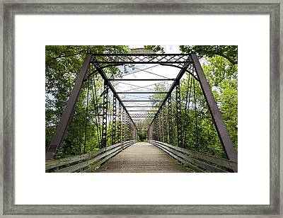 Historical Zoar Iron Bridge 1883 Framed Print by SharaLee Art