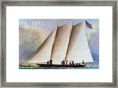 History 1851 America's Cup Framed Print