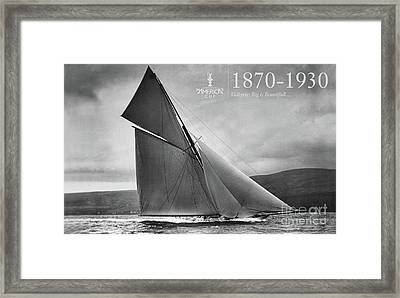 History 1870 -1930 America's Cup Framed Print