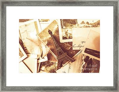 History And Sentiment Of Vintage Paris Framed Print by Jorgo Photography - Wall Art Gallery