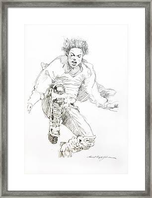 History Concert - Michael Jackson Framed Print