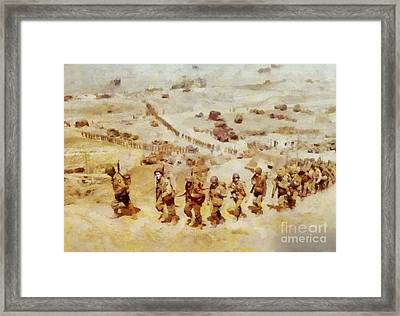 History In Color. D Day, Omaha Beach, Wwii Framed Print by Sarah Kirk