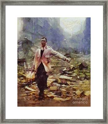 History In Color. Spirit Of The Blitz, Wwii Framed Print by Sarah Kirk