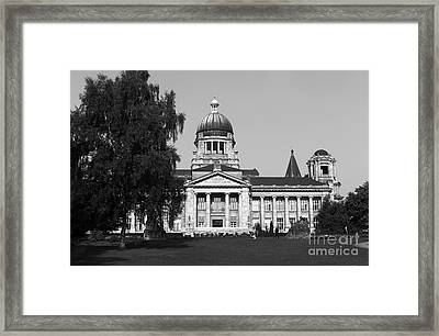 History In Hamburg Mono Framed Print