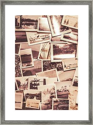 History In Still Photographs Framed Print