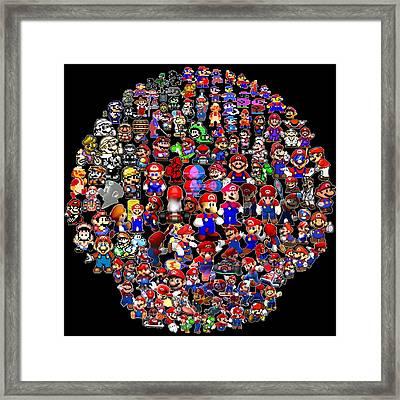History Of Mario Mosaic Framed Print