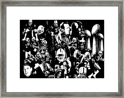 History Raider Nation A Collage Framed Print by John Farr