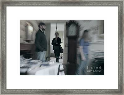 History Visiting Framed Print