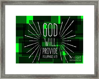 Hisworks Godart 3 Philippians 4 19 The Truth Bible Art Framed Print by Reid Callaway