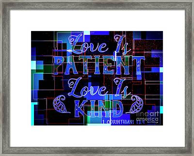 Hisworks Godart 7 1 Corinthians 13 4 The Truth Bible Art Framed Print by Reid Callaway