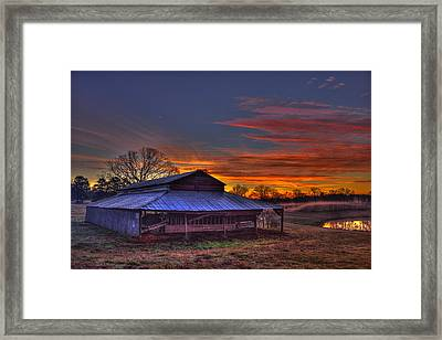 His Works Sunrise Framed Print by Reid Callaway