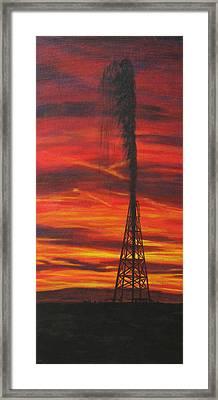 Hit Oil Framed Print by Karen  Peterson