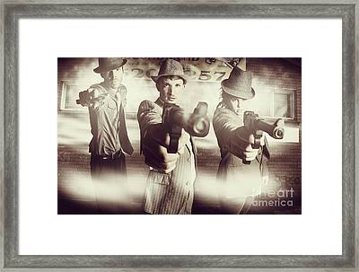 Hit Squad Gangsters Framed Print by Jorgo Photography - Wall Art Gallery