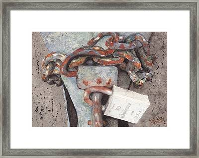 Hitch Lock Framed Print by Ken Powers
