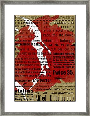 Hitchcock Framed Print by Diana Van