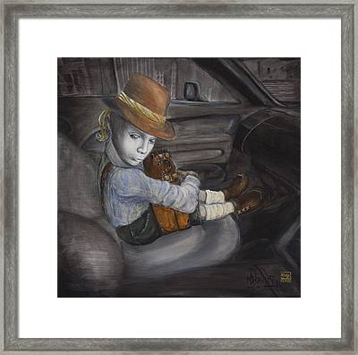 Hitchhiker Framed Print by Nik Helbig