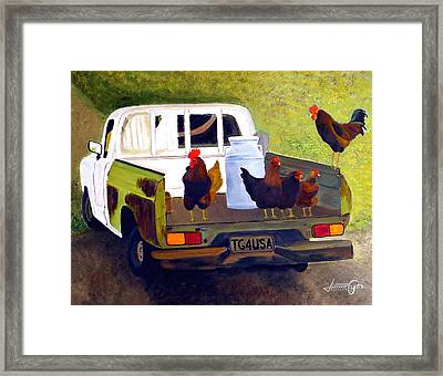 Hitchin' A Ride To Town Framed Print by JoeRay Kelley