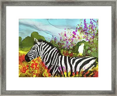 Hitching A Ride Framed Print