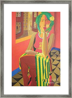 Hitherto Unknown Dimension Framed Print by David G Wilson